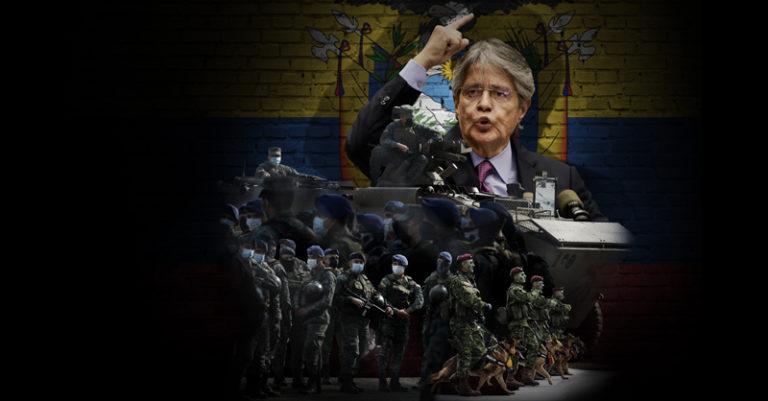 A través del refuerzo militar y policial en las calles, el presidente de Ecuador Guillermo Lasso busca frenar las actividades delictivas