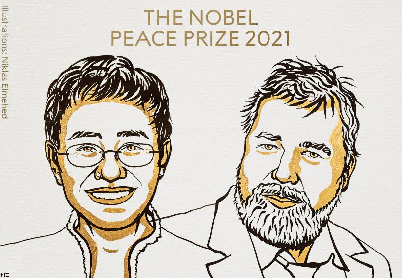 Periodistas de Filipinas y Rusia ganan el Nobel de la Paz; luchan por la libertad de expresión