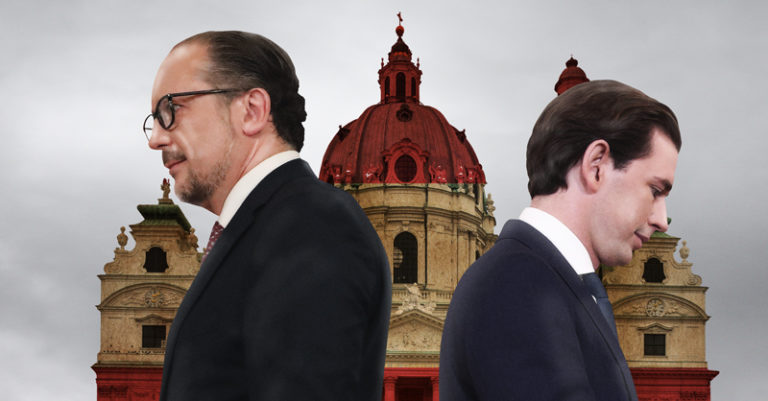Sebastian Kurz, de pie ante su partido a pesar de su dimisión como canciller de Austria